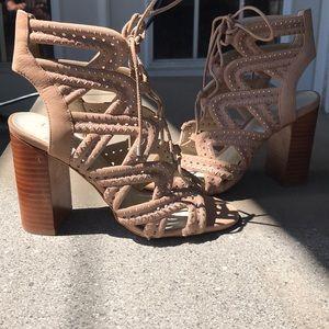 Brand new leather nude heel